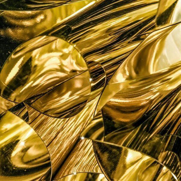 Slamp Wand- und Deckenleuchte Veli Medium Gold Detail Leuchtenschirm