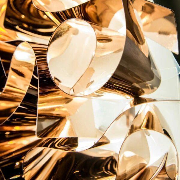 Slamp Wand- und Deckenleuchte Veli Medium Kupfer Detail Leuchtenschirm