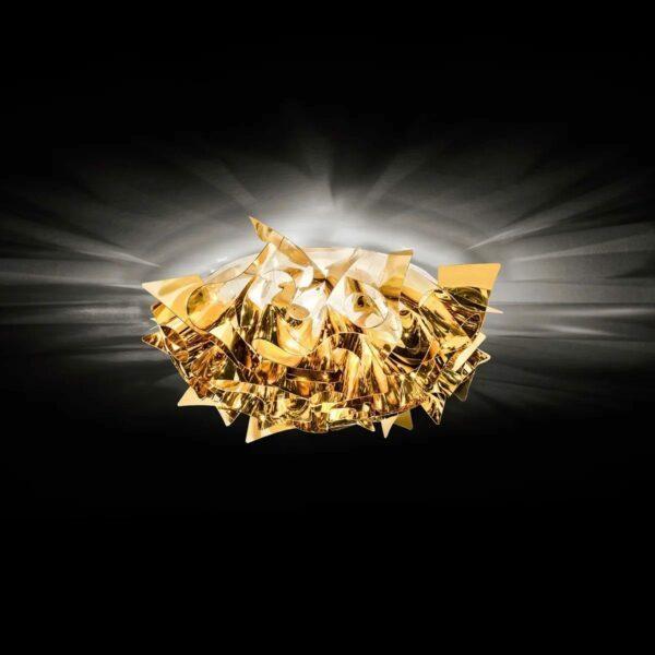 Slamp Wand- und Deckenleuchte Veli Mini Gold Milieu