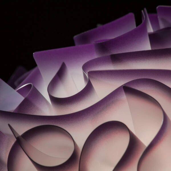Slamp Wand- und Deckenleuchte Veli Mini Violett Detail Leuchtenschirm