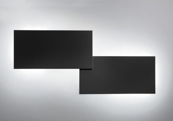 Lodes Puzzle Double Rectangle Schwarz matt