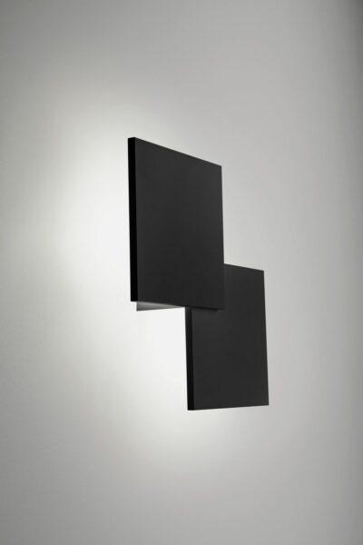 Lodes Puzzle Square Double Wandleuchte Schwarz matt