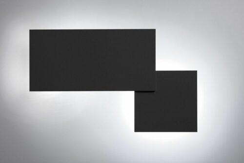 Lodes Puzzle Square Wandleuchte Schwarz matt