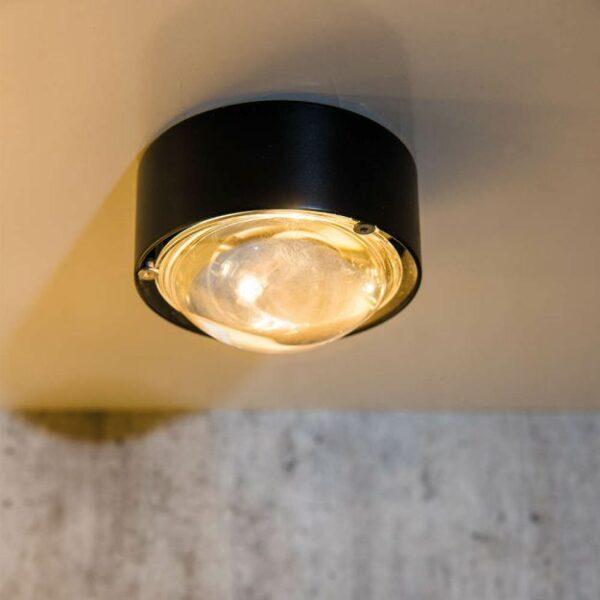 Top Light Wand- und Deckenleuchte Puk One Schwarz