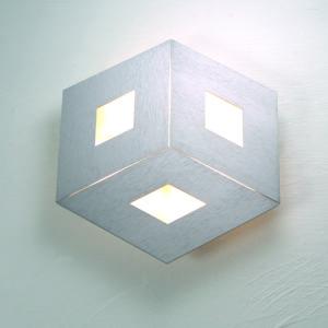Bopp Deckenleuchte Box Comfort Durchmesser 35 cm Silber matt eloxiert