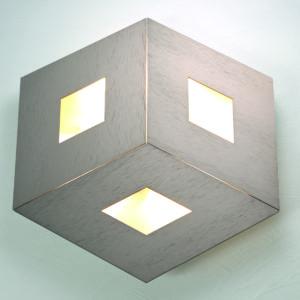 Bopp Deckenleuchte Box Comfort Durchmesser 45 cm Taupe eloxiert