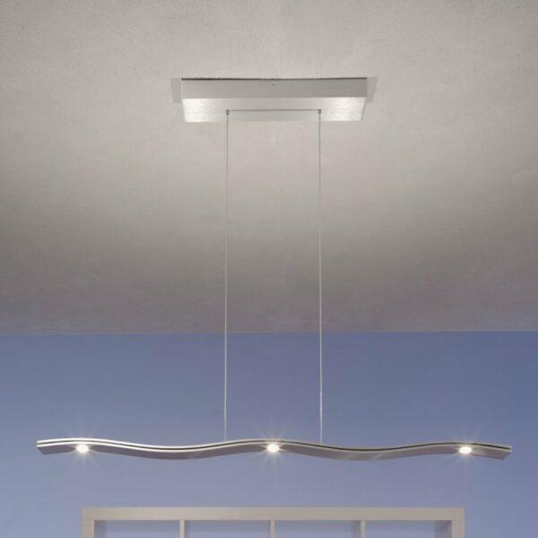 Escale Pendelleuchte Fluid LED Aluminium geschliffen
