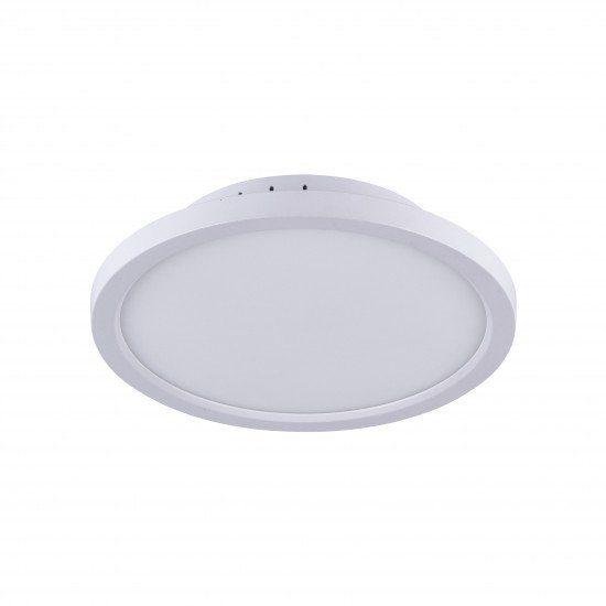 LeuchtenDirekt Deckenleuchte Flat 15530-16 Weiß flach rund