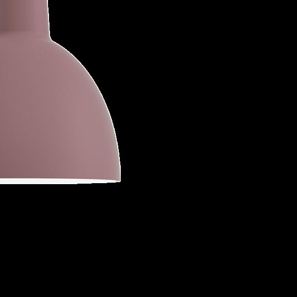 Louis Poulsen Pendelleuchte Toldbod 120 Dunkelrosé Detail