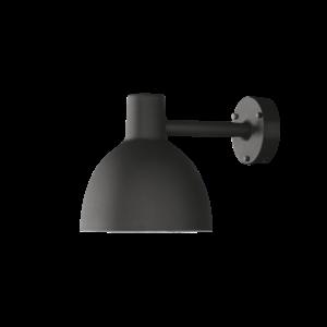 Louis Poulsen Wandaußenleuchte Toldbod 220 cm Schwarz strukturiert