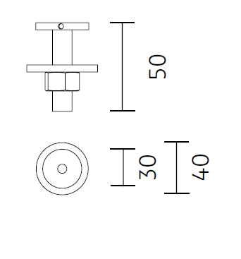 Nimbus Universaltischadapter für Tischleuchte Roxxane Office und Roxxane Home Maße