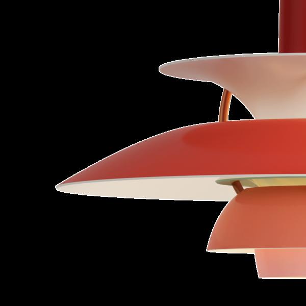 Louis Poulsen Pendelleuchte PH 5 Mini Hues of Red Detail