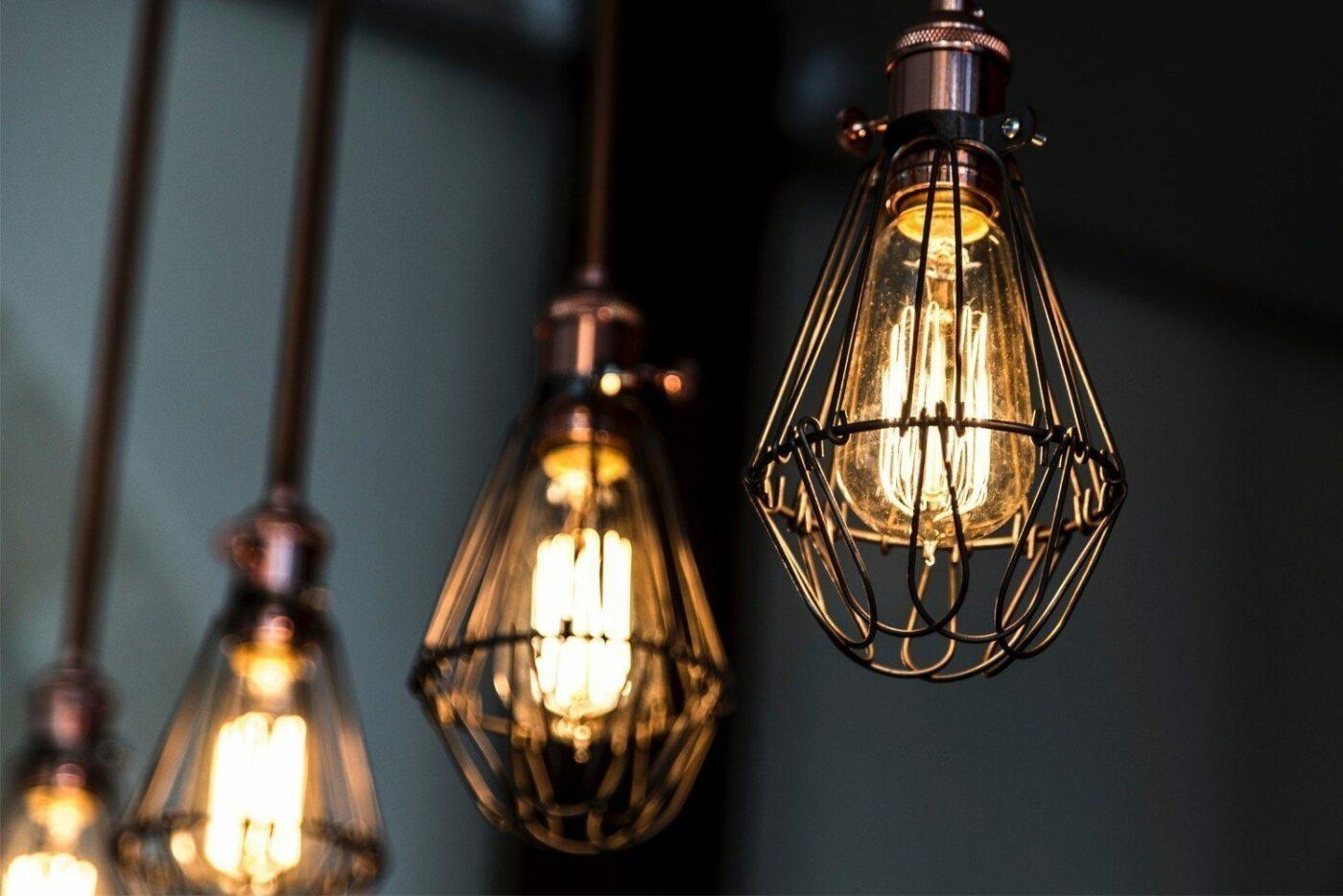 Metall-Lampe im Vintage-Stil