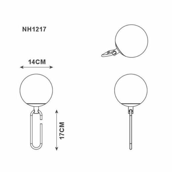 Artemide Tischleuchte nh1217 Maße