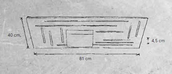 Escale Deckenleuchte Fine 469 800 09 Maße