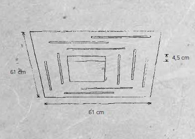 Escale Deckenleuchte Fine 46960009 Maße