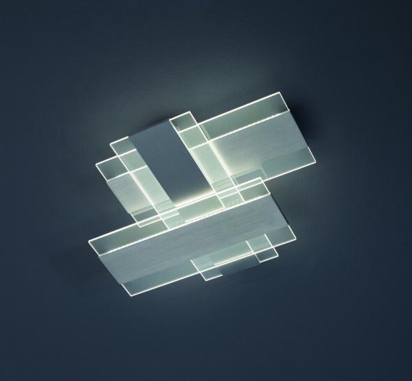 Escale Deckenleuchte Planus Aluminium geschliffen