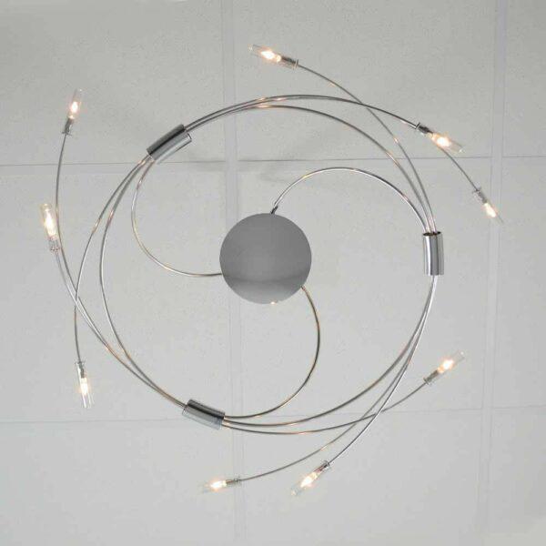 Escale Deckenleuchte Spin 9-flammig Edelstahl/Chrom