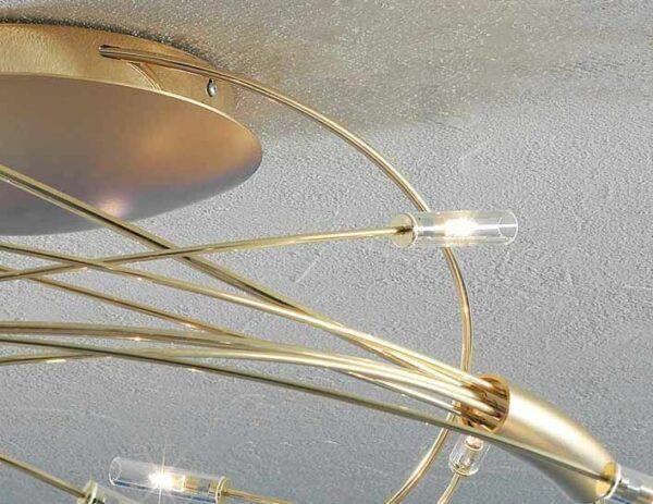 Escale Deckenleuchte Spin 9-flammig vergoldet (24 Karat) Detail