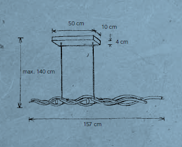 Escale Pendelleuchte Silk 157 cm Maße