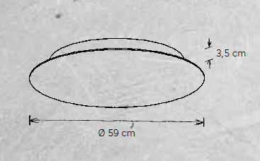 Escale Wand-und Deckenleuchte Blade Ø 59 cm Maße