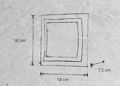 Escale Wandleuchte Pages 14 cm Maße