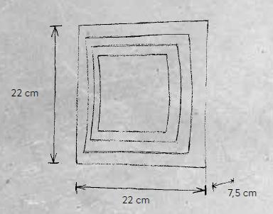 Escale Wandleuchte Pages 22 cm Maße