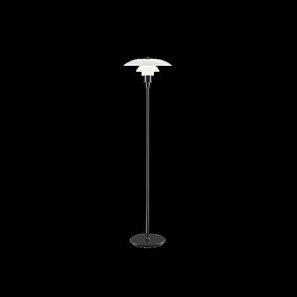 Louis Poulsen Stehleuchte PH 3½-2½ Schwarz metallisiert