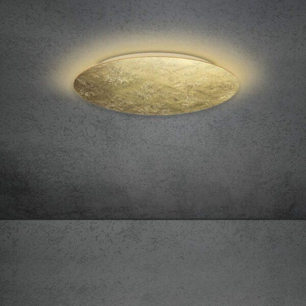 Escale Blade Wand- und Deckenleuchte Blattgold 59cm