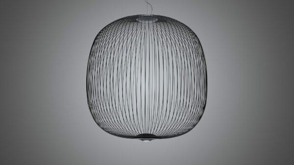 Foscarini Pendelleuchte Spokes 2 Large LED Dunkelgrau Milieu