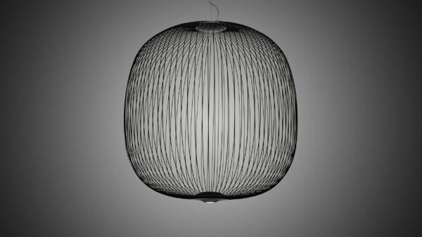 Foscarini Pendelleuchte Spokes 2 Large LED Schwarz Milieu