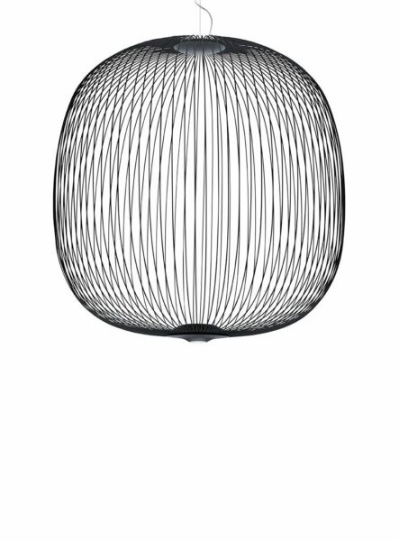 Foscarini Pendelleuchte Spokes 2 Large LED Dunkelgrau
