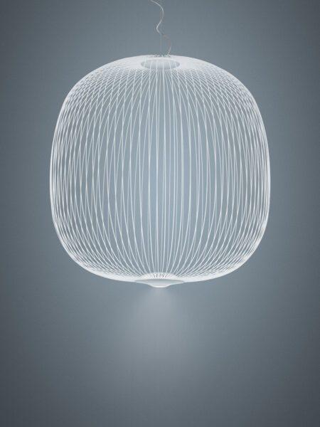 Foscarini Pendelleuchte Spokes 2 Large LED Weiß Milieu