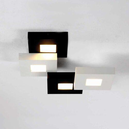 Bopp Deckenleuchte Cubus 4-flammig Schwarz-Weiß