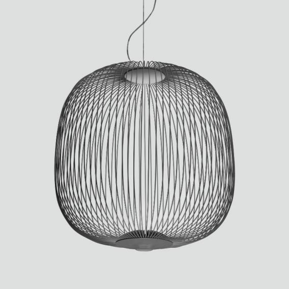 Foscarini Pendelleuchte Spokes 2 LED Graphit