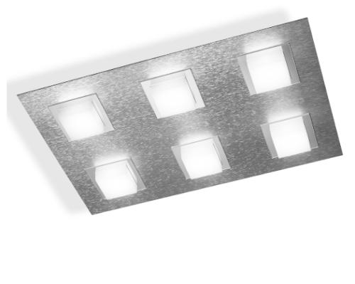 Gossmann Wand- und Deckenleuchte Basic 6-flammig Aluminium 76-790-072