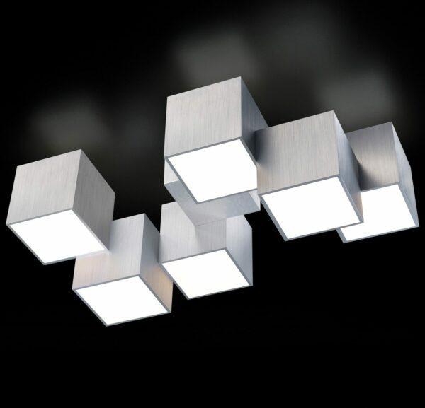 Grossmann Deckenleuchte Rocks 6-flammig Aluminium