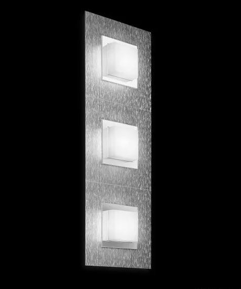 Grossmann Wand- und Deckeneleuchte Basic 3-flammig Aluminium 73-790-072