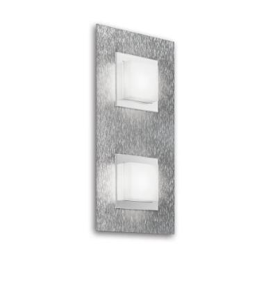 Grossmann Wand-und Deckenleuchte Basic 2-flammig Aluminium 52-790-072