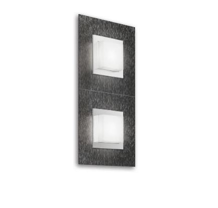 Grossmann Wand-und Deckenleuchte Basic 2-flammig Anthrazit 52-790-019