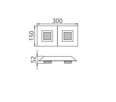Grossmann Wand-und Deckenleuchte Basic 2-flammig Maße
