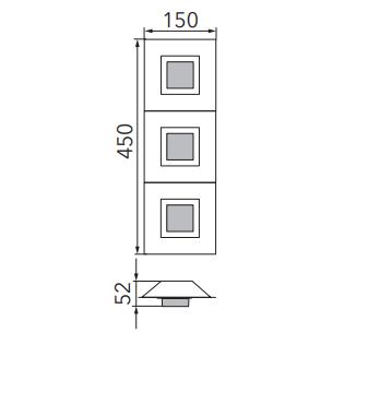 Grossmann Wand- und Deckenleuchte Basic 3-flammig Maße