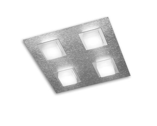 Grossmann Wand- und Deckenleuchte Basic 4-flammig Aluminium 74-790-072