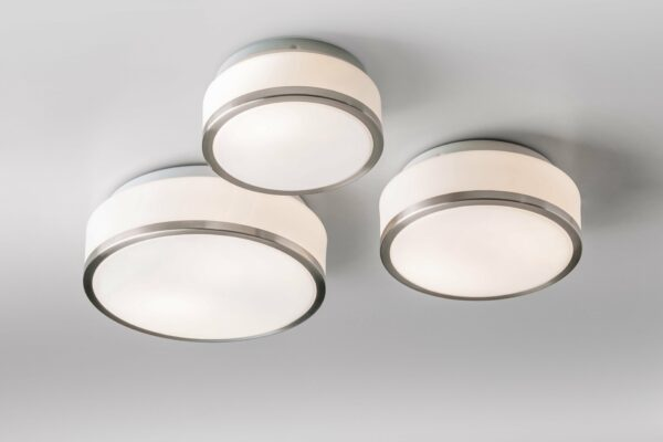 Lupia Licht Deckenleuchte Flush S, M und L Nickel matt