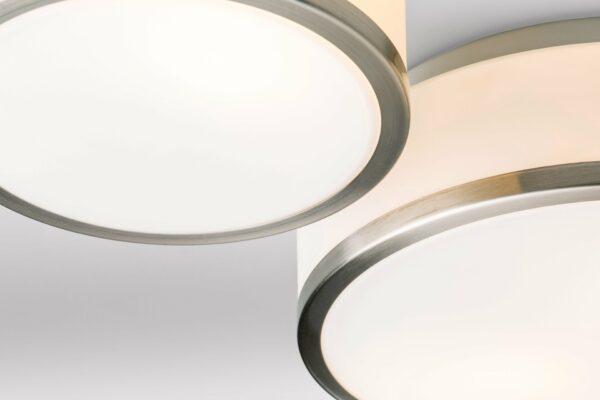 Lupia Licht Deckenleuchte Flush Nickel matt