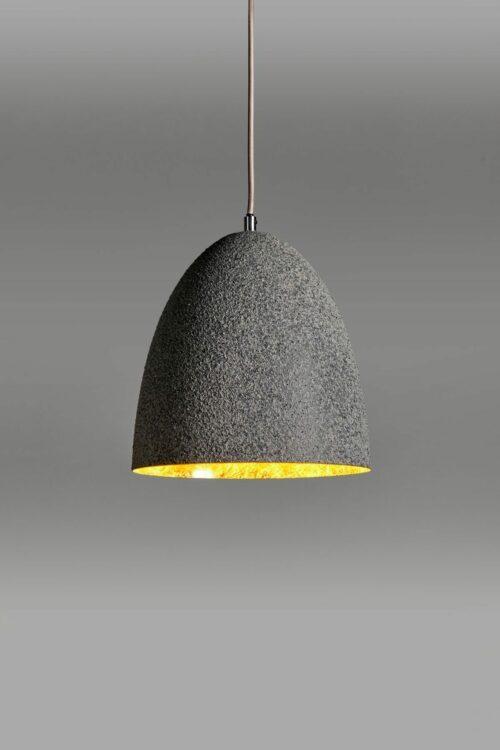 Lupia Licht Pendelleuchte Chapeau 2 Grau/Blattgold