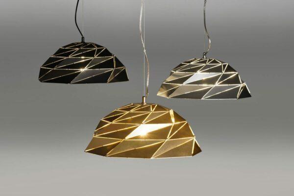 Lupia Licht Pendelleuchte Dome Gold, Silber und Schwarz