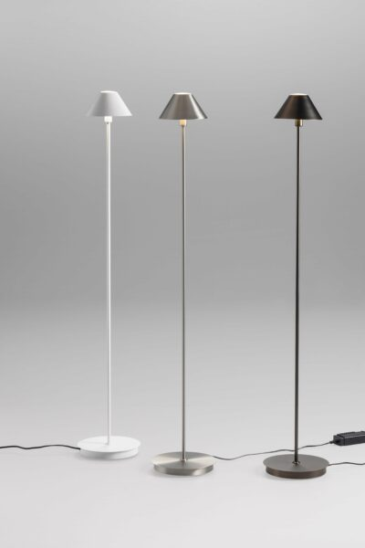Lupia Licht Stehleuchte Petite F Weiß, Nickel matt und Platin