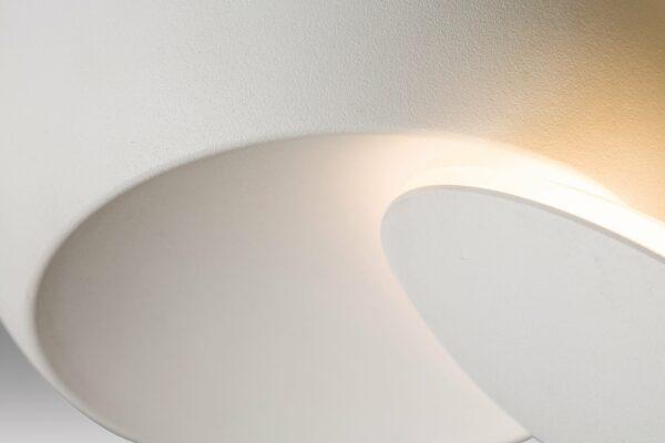 Lupia Licht Wand- und Deckenleuchte Moon Weiß Detail