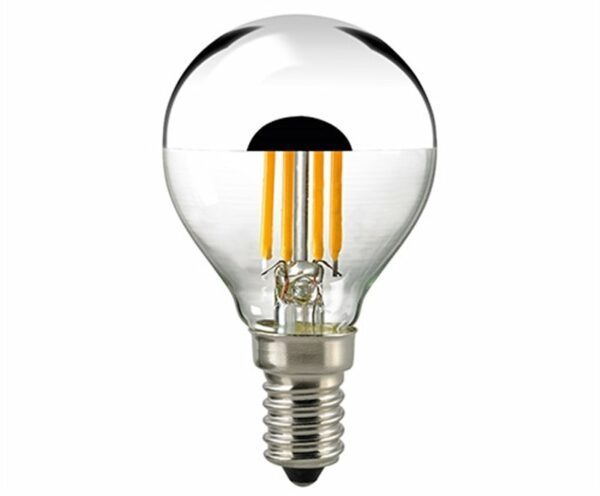 Sigor 2,5 W LED-Filament Kopfspiegel Silber E14 2700 K Dim